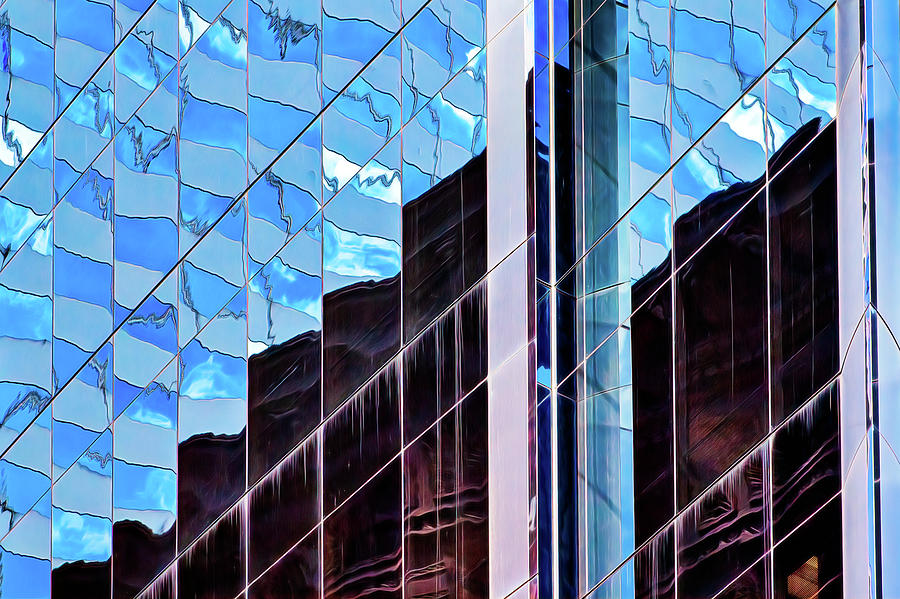 Blue flags and Monoliths by Robert FERD Frank