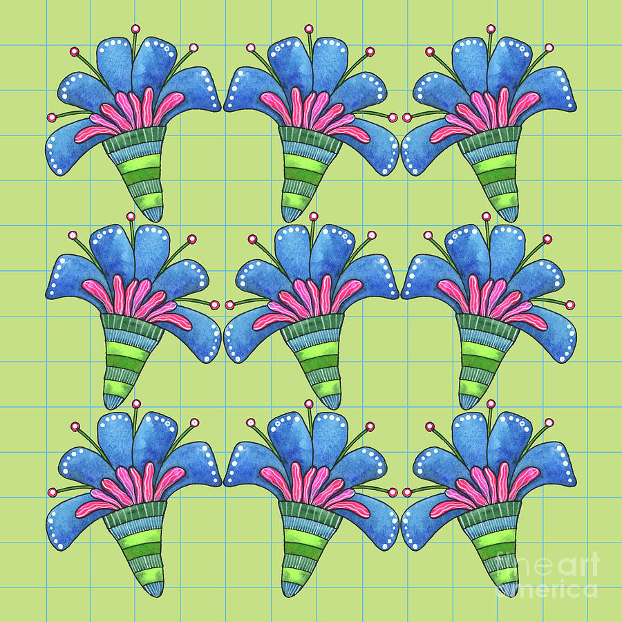 Blue Flowers by Shelley Wallace Ylst