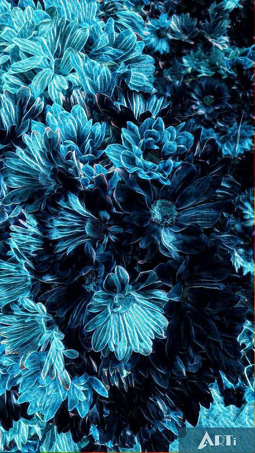 Blue flowers by Steven Wills