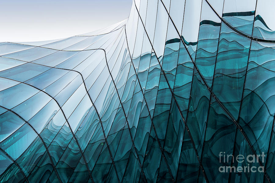 Blue Glass Photograph by Guy Lambrechts