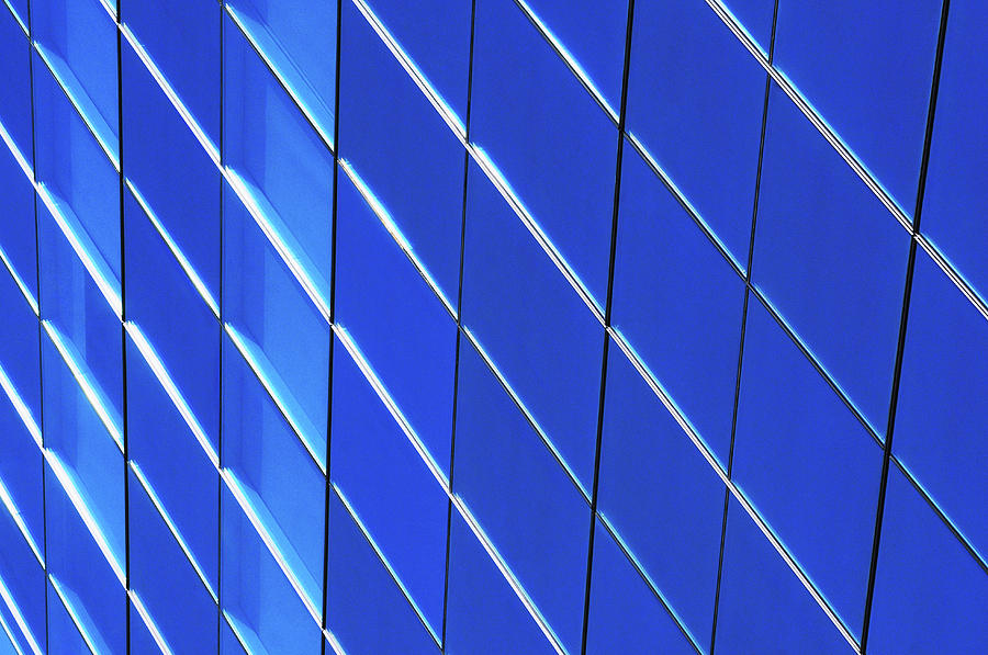 Blue Glass Modern Building Photograph by Joelle Icard