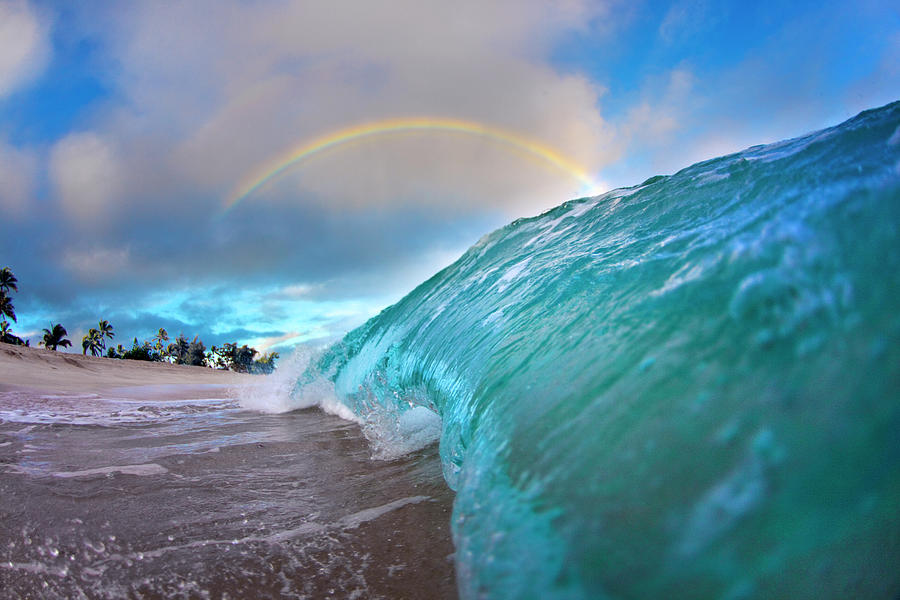 Rainbow Photograph - Blue Gold by Sean Davey