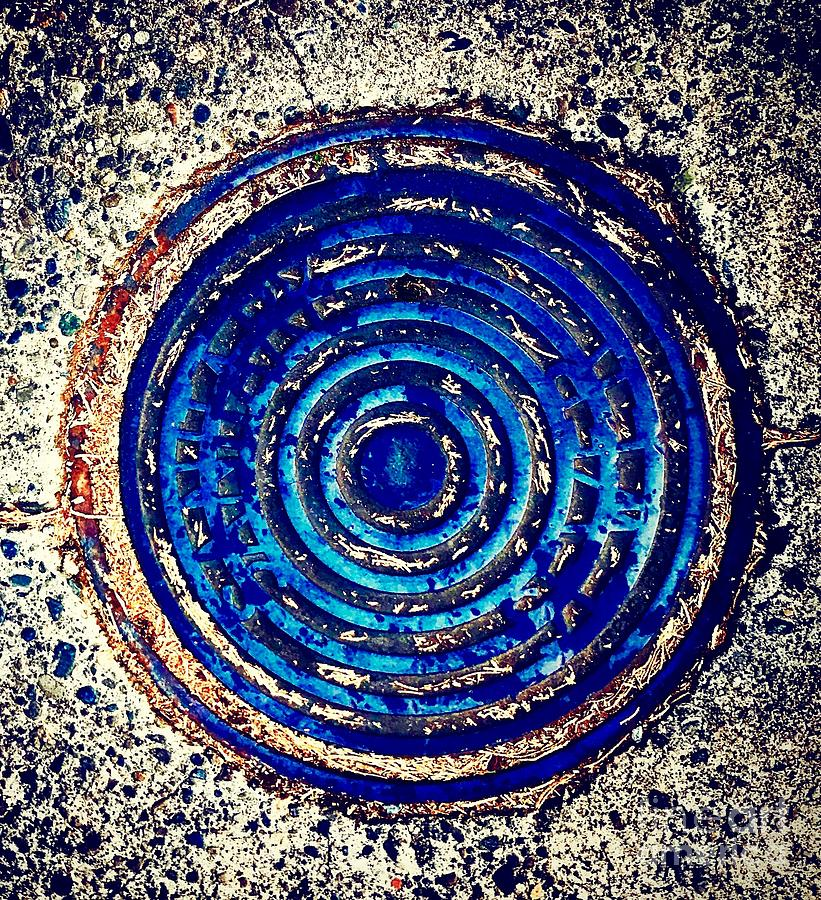 Blue Grate by Suzanne Lorenz