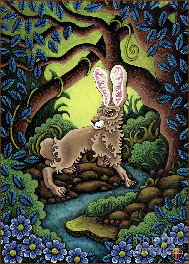 Blue Hare Lagoon by Amy E Fraser