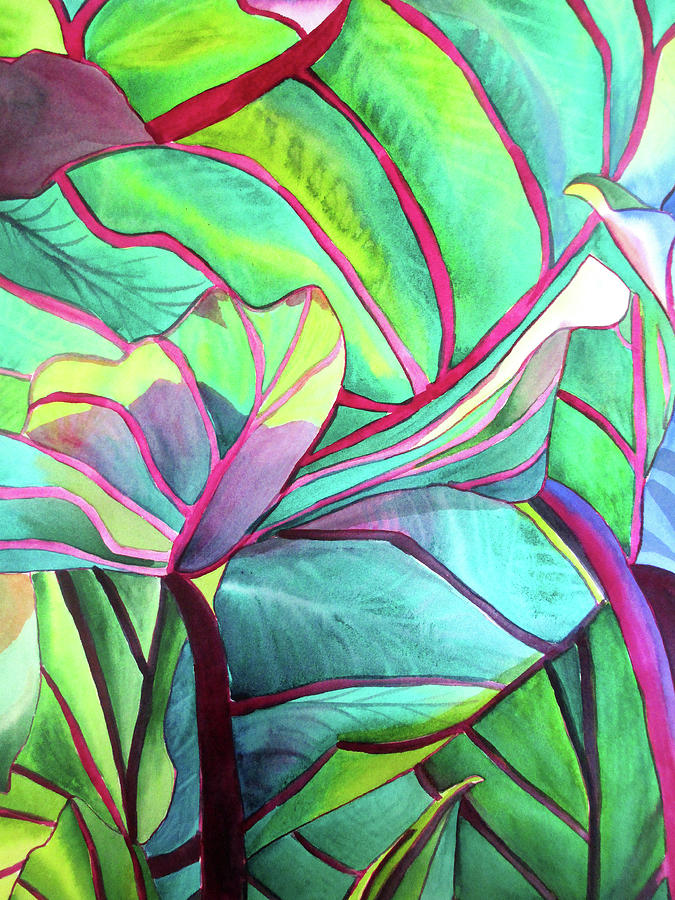 Foliage Painting - Blue Hawaii by Sacha Grossel