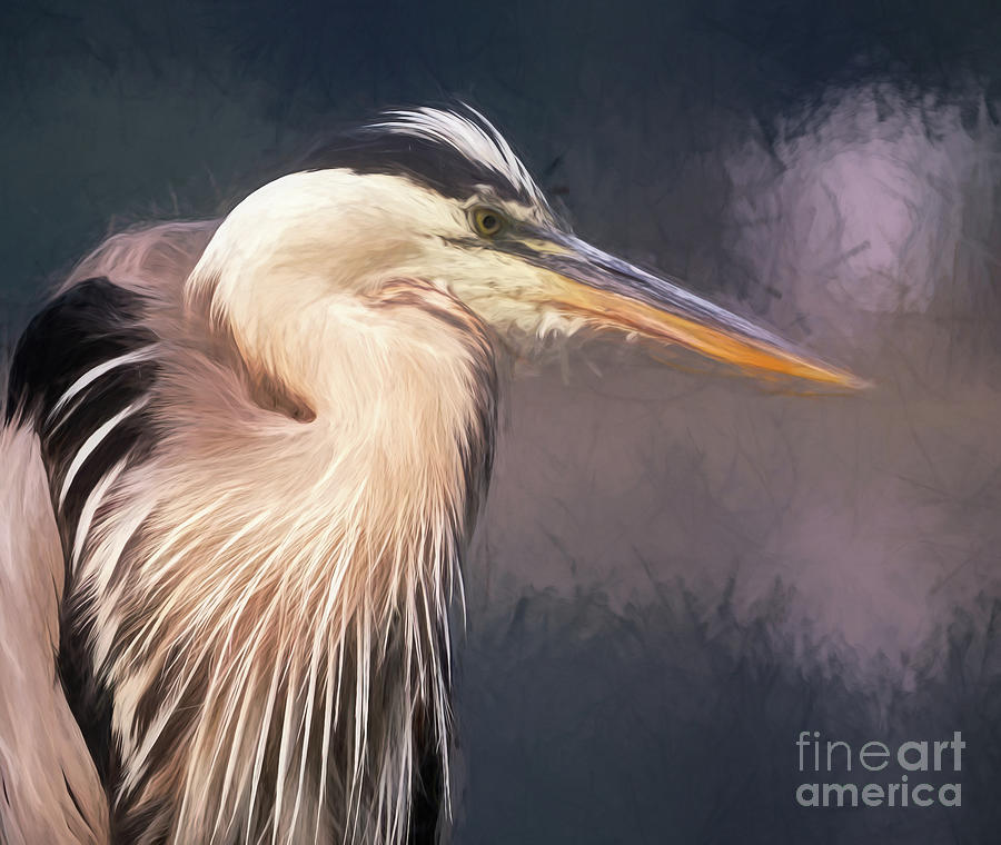 Blue Heron - Art by Sue Harper