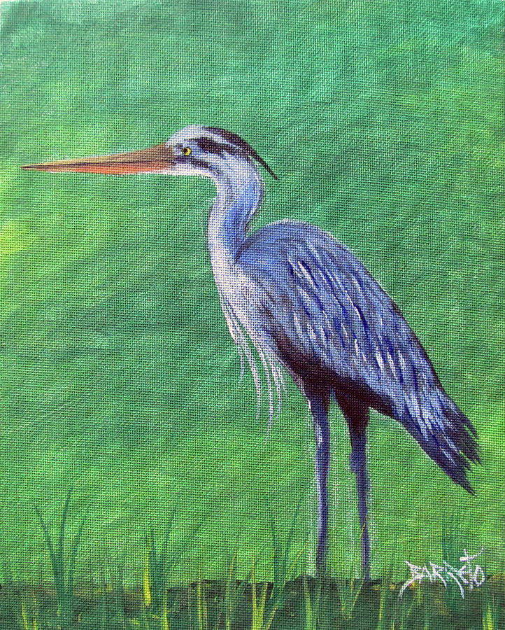 Blue Heron by Gloria E Barreto-Rodriguez