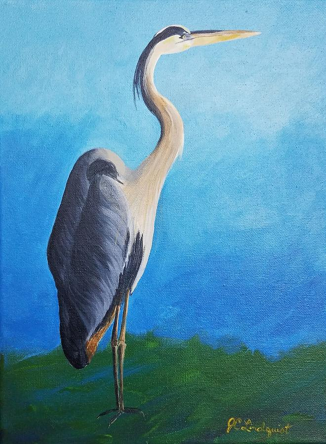 Blue Heron by Jenn C Lindquist