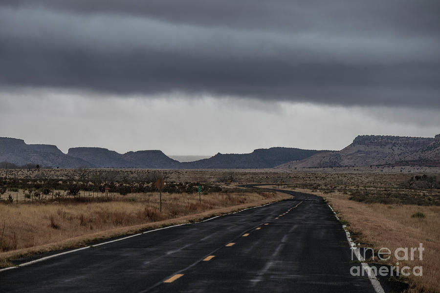 Blue Highway  New Mexico 465 by Garry McMichael