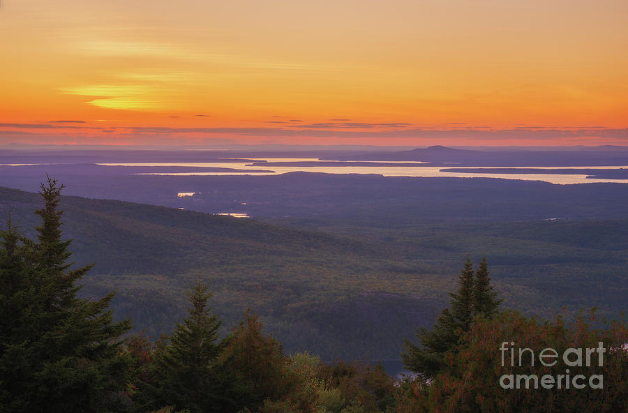 Blue Hill Sunset by Sharon Seaward
