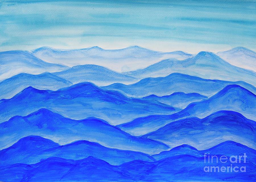Blue hills by Irina Afonskaya