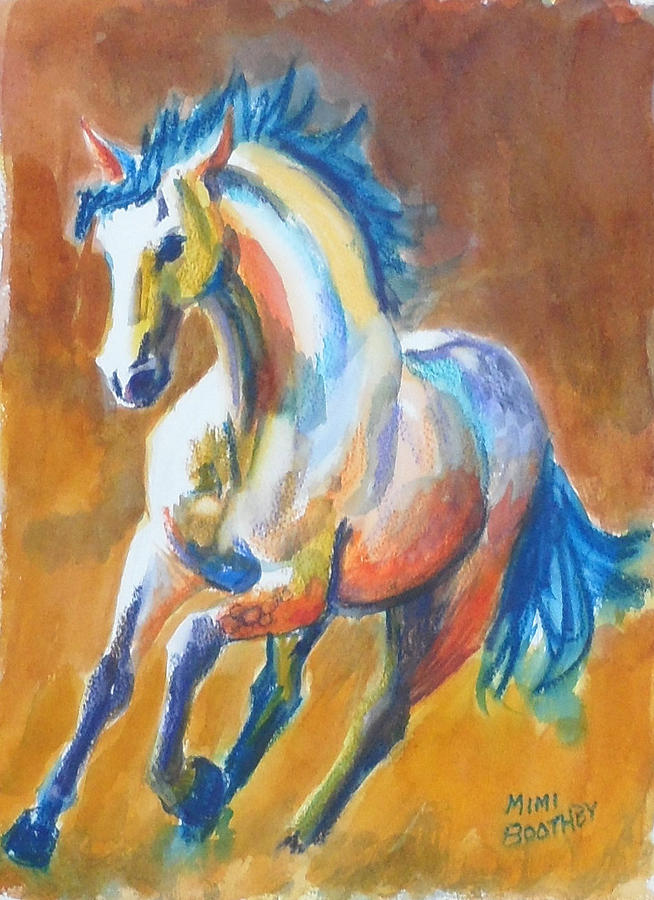 blue horse by Mimi Boothby