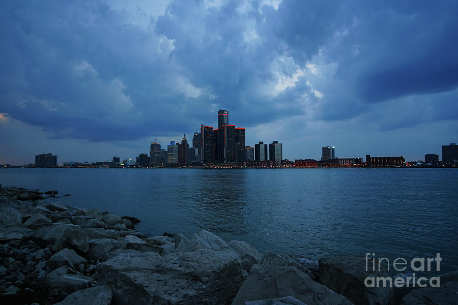 Blue Hour Detroit by Rachel Cohen