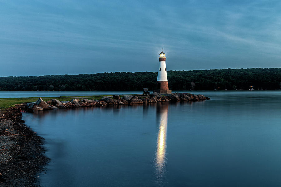 Blue Hour Lighthouse by Rod Best
