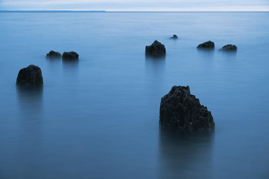 Blue Hour On Lake Superior Photograph by Daniel Sigg