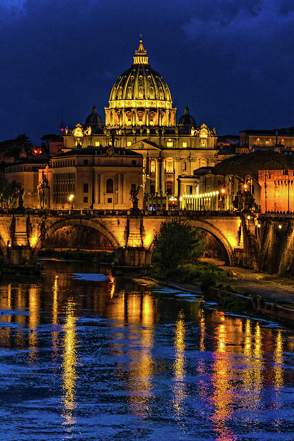 Blue Hour On The Tiber River by Chris Lord