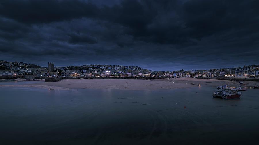 Blue Hour - St Ives Cornwall by Eddy Kinol