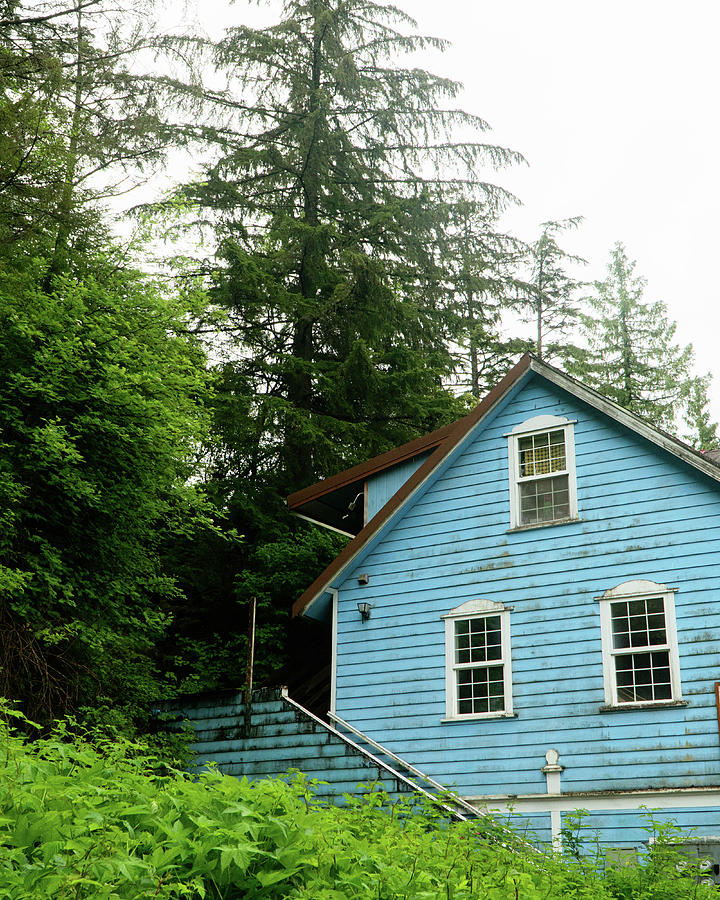 Blue House In Ketchikan Photograph