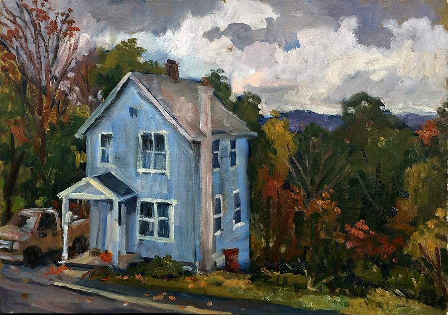 Blue House October by Thor Wickstrom