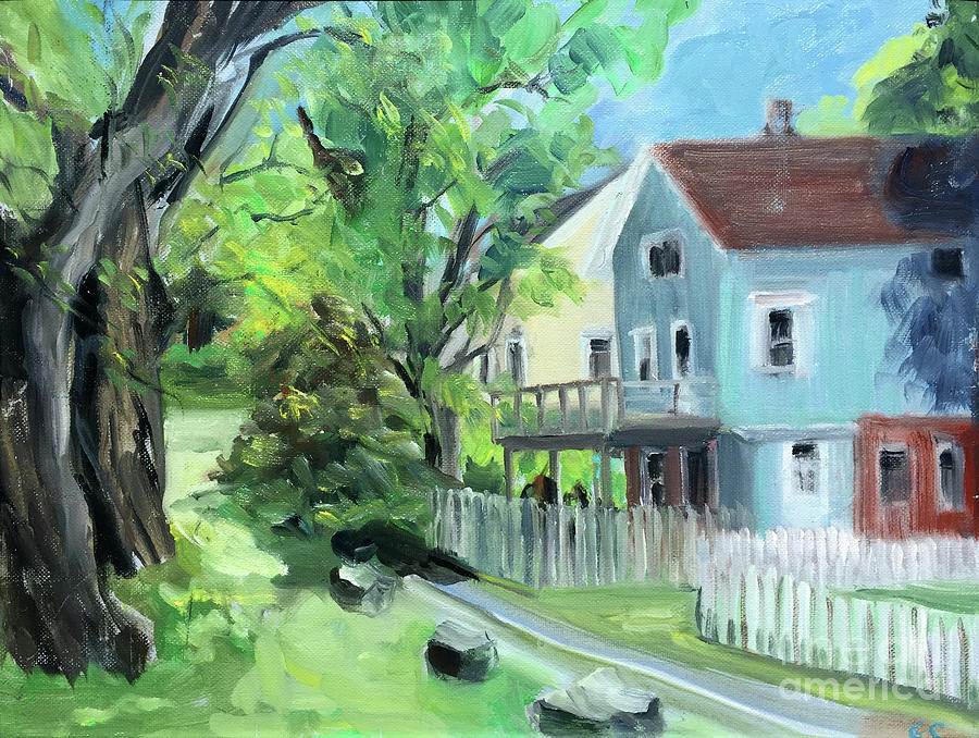 Blue House on a Spring Morning by Greta Corens