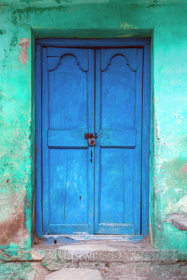 Blue Indian Door by Maria Heyens