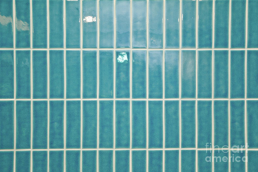 Abstract Photograph - Blue Interior Tiles by Tom Gowanlock