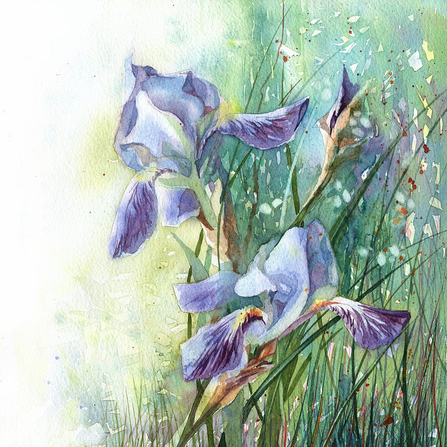 Blue Irises Fairytale by Ina Petrashkevich