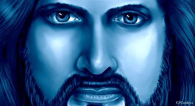 Blue Jesus by Carmen Cordova