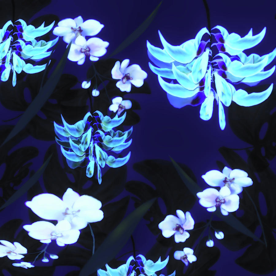 Blue Jungle Floral by Sand And Chi