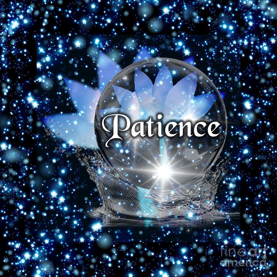 Blue Lotus Patience by Rachel Hannah