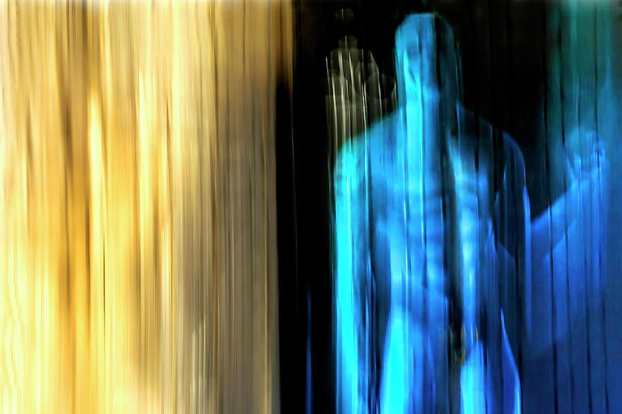 Blue man by Gaye Bentham