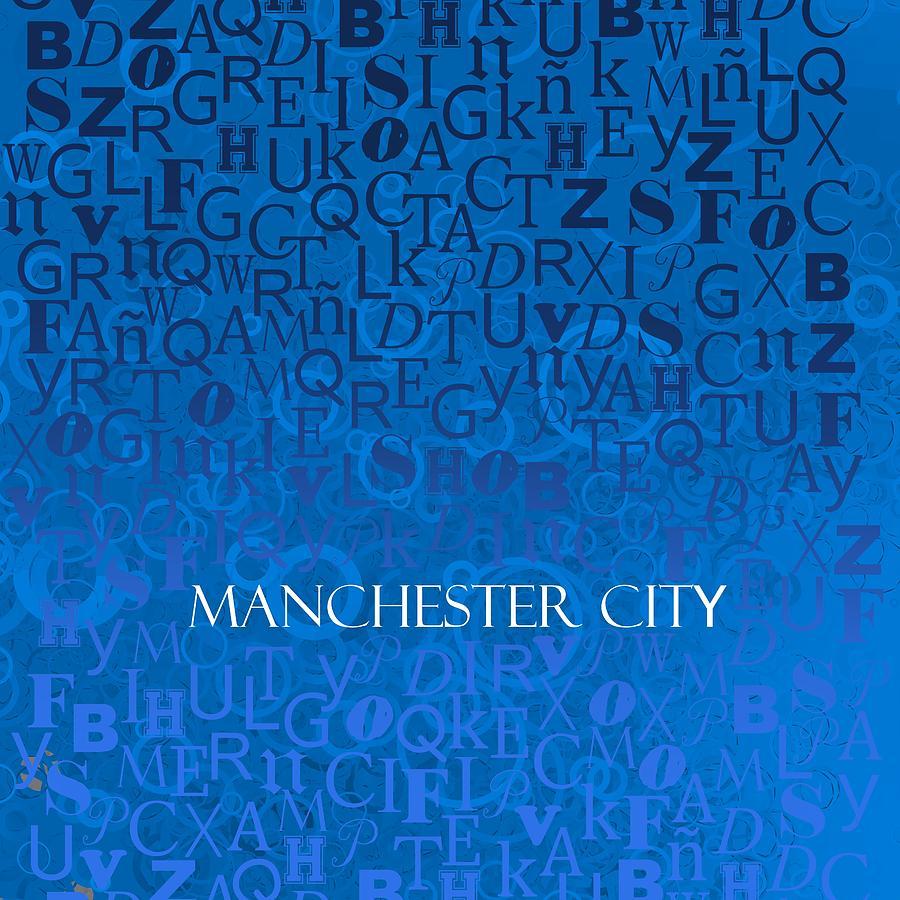 Blue Manchester Digital Art