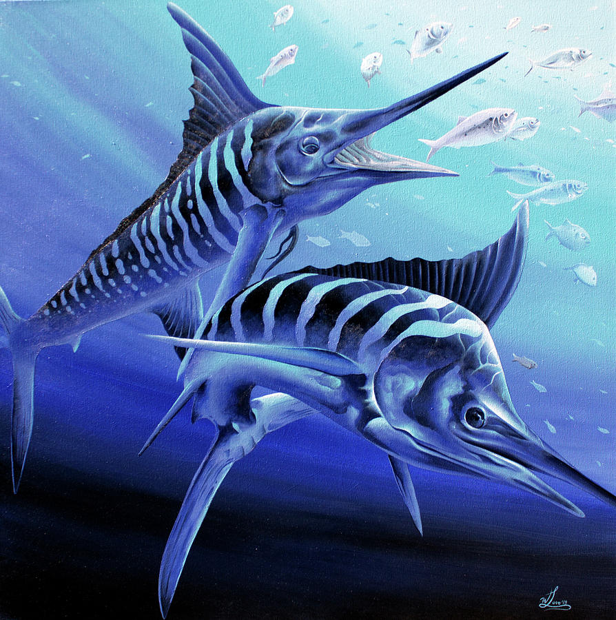 Blue Marlins by William Love