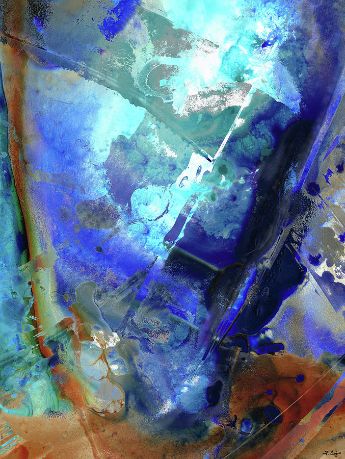 Blue Painting - Blue Modern Abstract Art - After The Storm - Sharon Cummings by Sharon Cummings