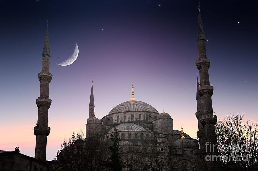 Religious Photograph - Blue Mosque - Istanbul  Turkey by Plusone
