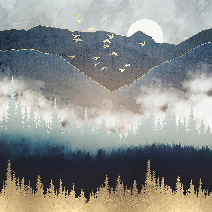 Blue Mountain Mist by Spacefrog Designs