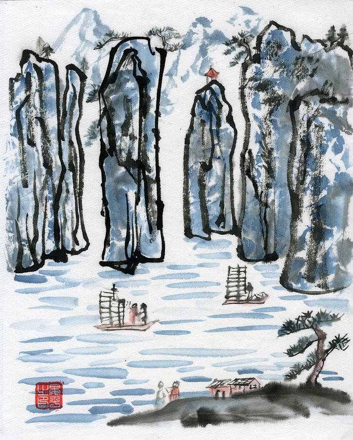 Blue Mountain by Ping Yan