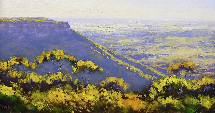 Three Sisters Painting - Blue Mountains Australia by Graham Gercken