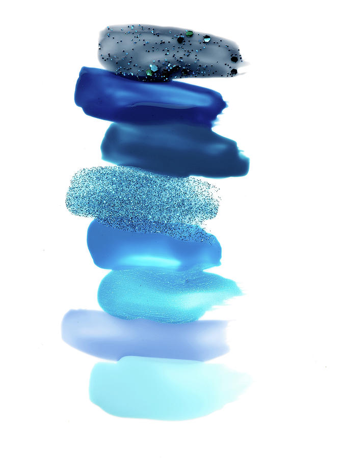 Blue Nail Polish Swatches Photograph by David Lewis Taylor