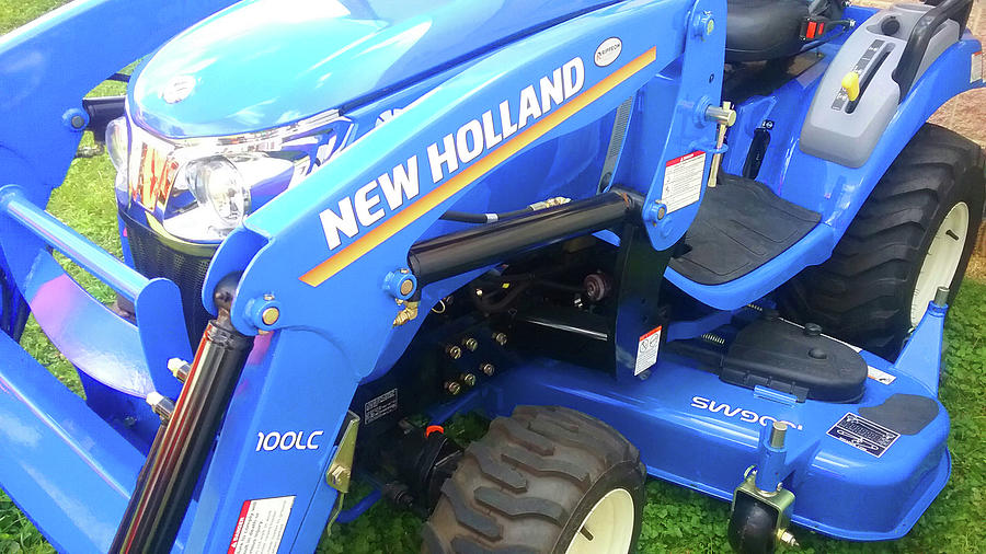 Blue New Holland Tractor Photograph