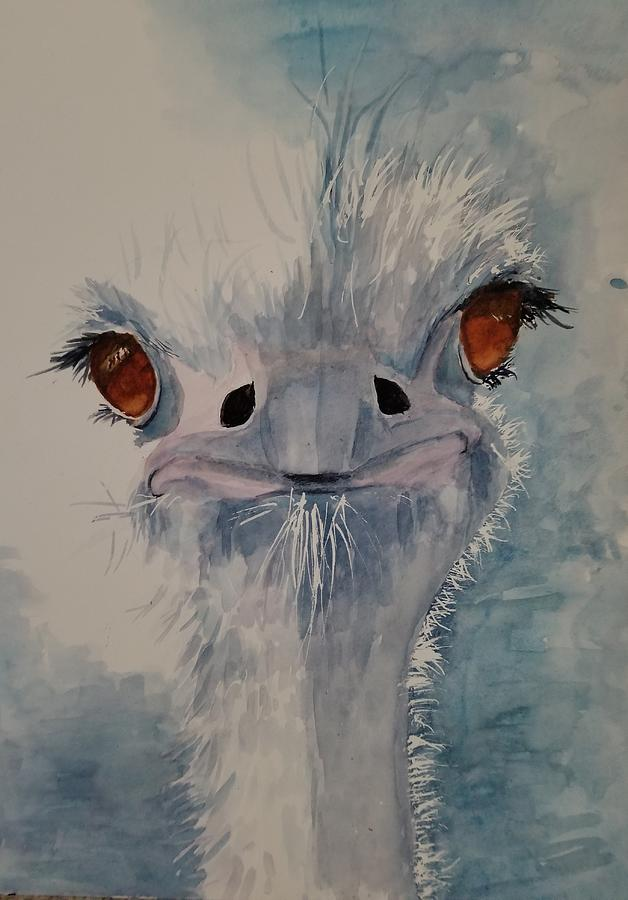 Blue Ostrich by Lettie Neuhauser-MacLachlan