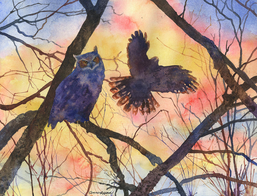 Blue Owl by Anne Gifford