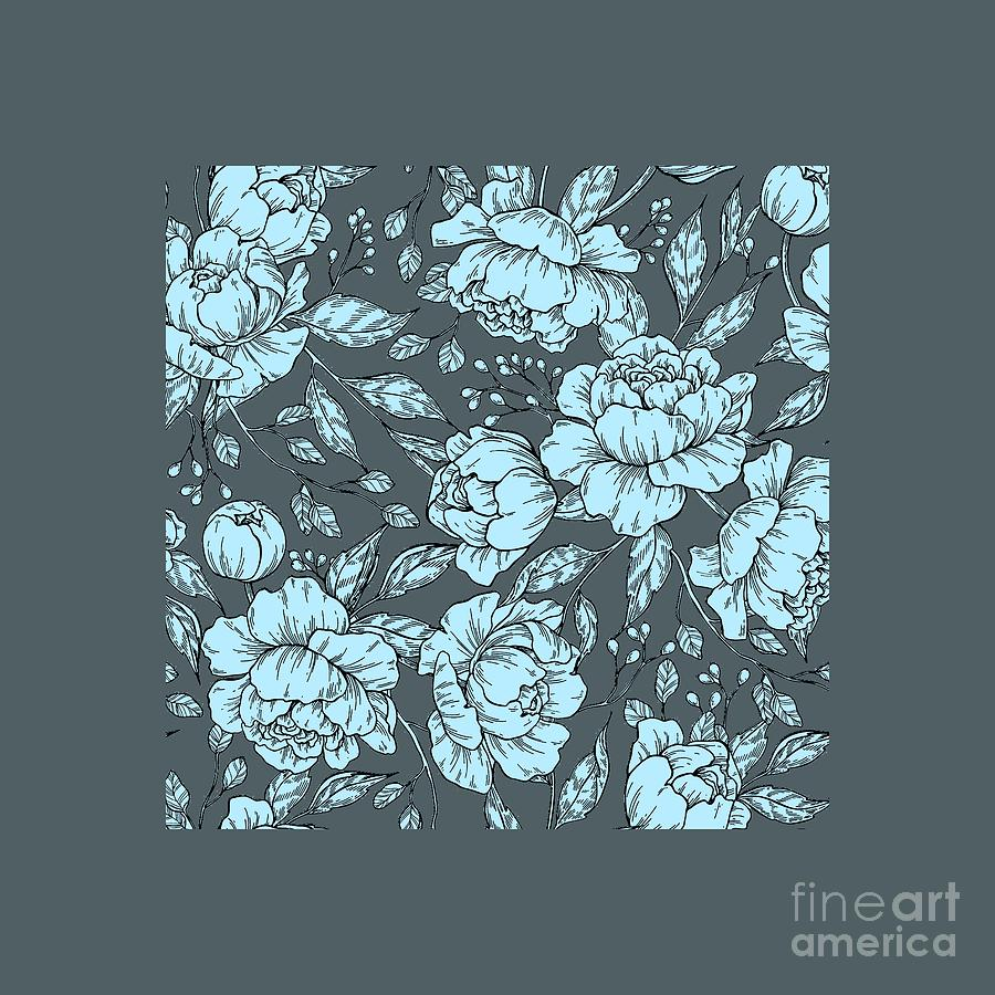 Blue Peonies by Jessie Art