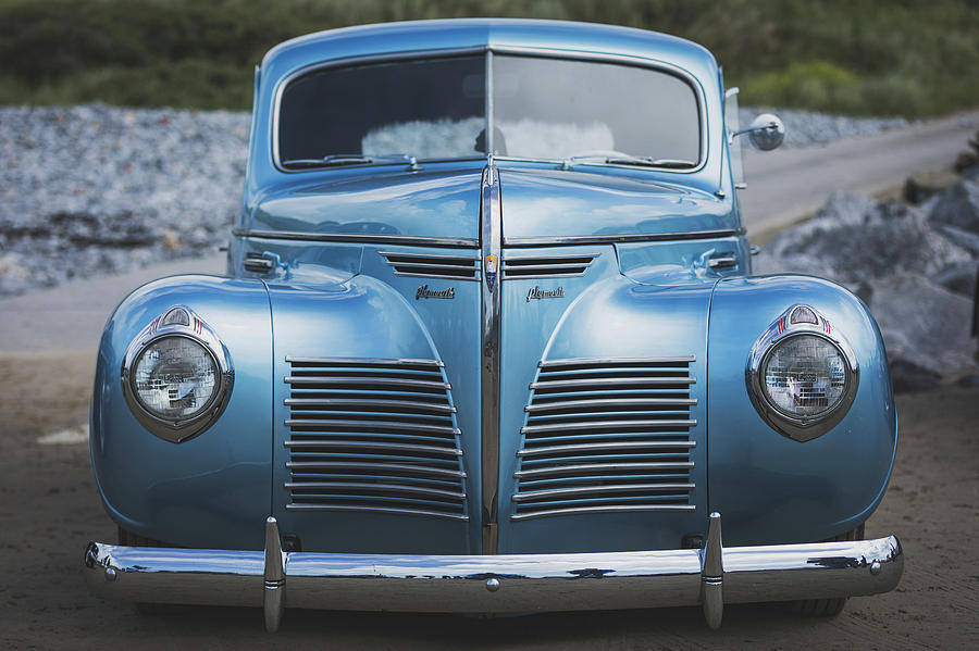Blue Plymouth Photograph