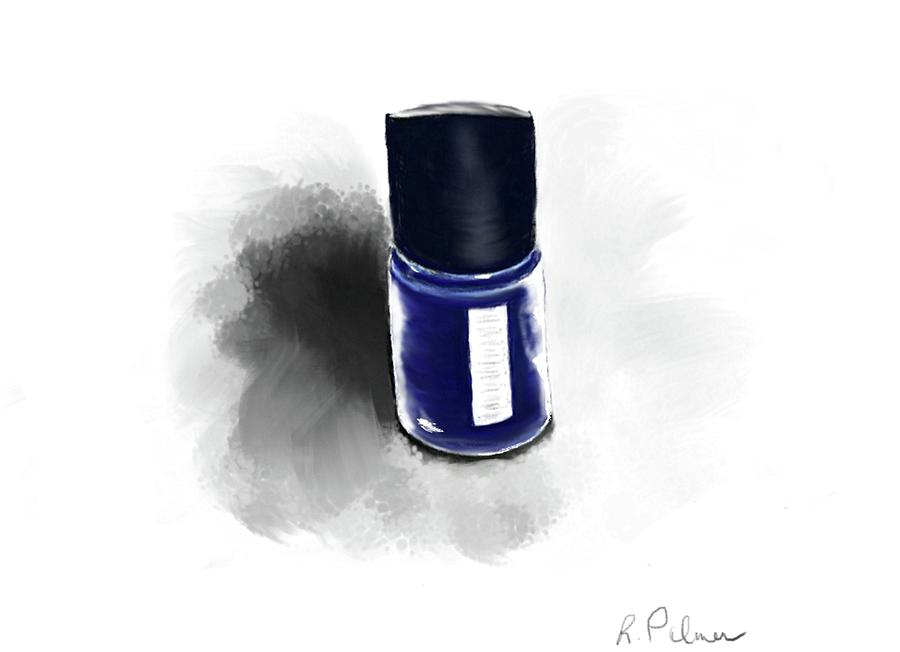 Beauty Digital Art - Blue Polish by Rachel Palmer