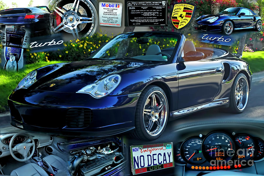 Blue Porsche Turbo Cabriolet by Charles Abrams