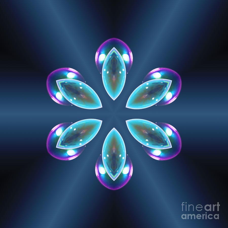 Blue Prism Flower by Rachel Hannah