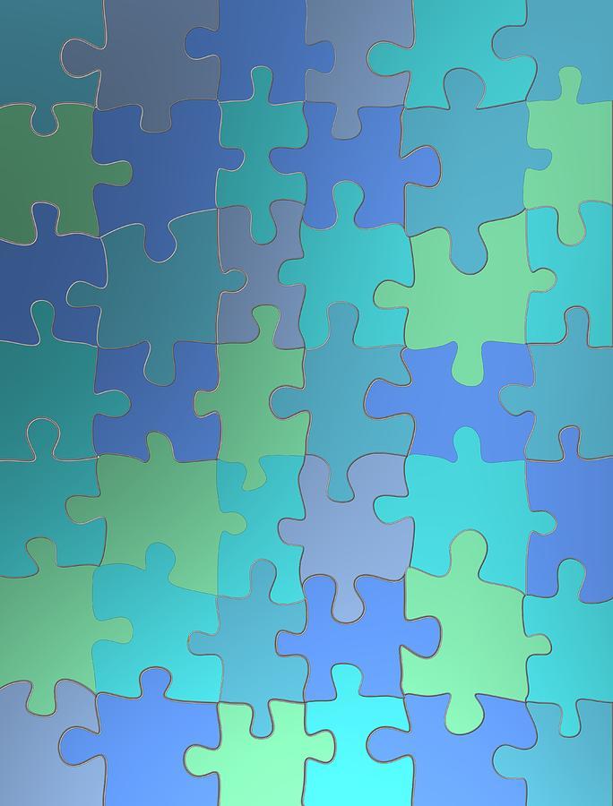 Blue puzzle fashion by Alberto RuiZ