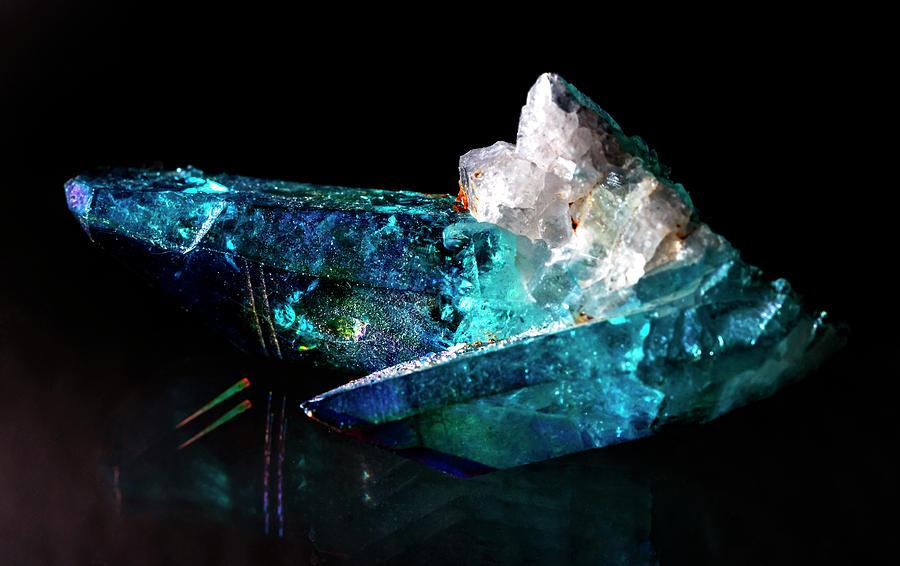 Blue Photograph - Blue Quartz Crystal by Lonnie Paulson