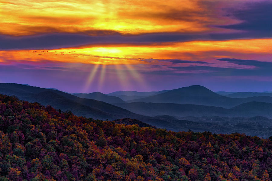 Blue Ridge Autumn Sunrise by Dan Carmichael